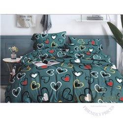 Cotton satin bed linen complex 200x220, 4 parts (CT123)