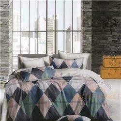 Cotton satin bed linen complex 200x220, 4 parts (CT124)
