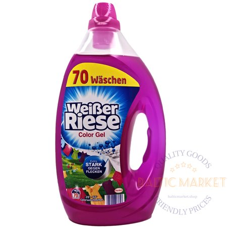 Weißer Riese gelis spalvotiems skalbiniams 3,5 l, 70 skalbinių