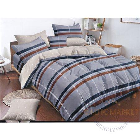 Puuvillasatiinist voodipesukompleks 200x220, 4 osa (CT125)
