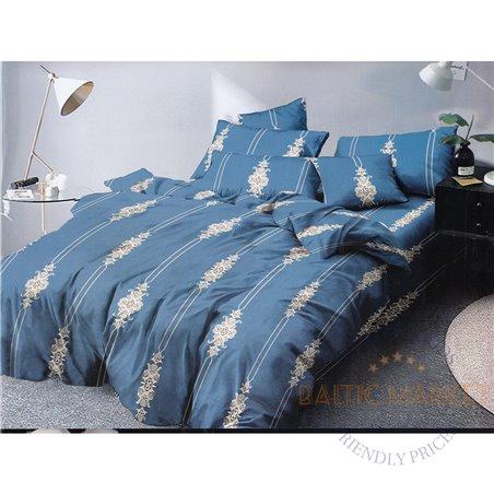 Puuvillasatiinist voodipesukompleks 200x220, 4 osa (CT126)
