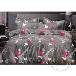 Puuvillasatiinist voodipesukompleks 200x220, 4 osa (CT130)