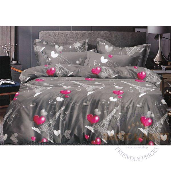 Cotton satin bed linen complex 200x220, 4 parts (CT130)