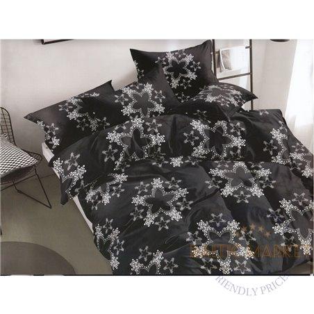 Puuvillasatiinist voodipesukompleks 200x220, 4 osa (CT132)