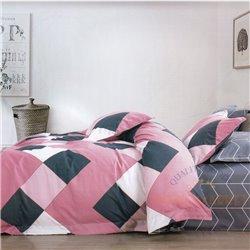 Cotton satin bed linen complex 200x220, 4 parts (CT133)