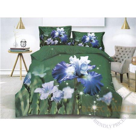 Cotton satin bed linen complex 200x220, 4 parts (CT136)