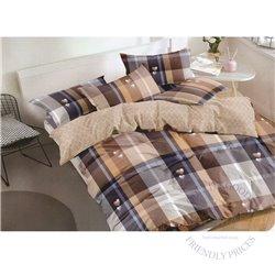 Cotton satin bed linen complex 200x220, 4 parts (CT138)