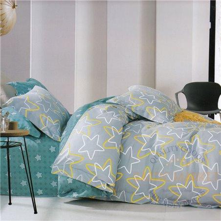 Cotton satin bed linen complex 200x220, 4 parts (CT139)
