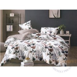 Cotton satin bed linen complex 200x220, 4 parts (CT140)