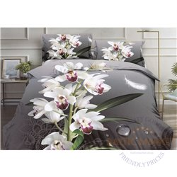 Puuvillasatiinist voodipesukompleks 200x220, 4 osa (CT141)
