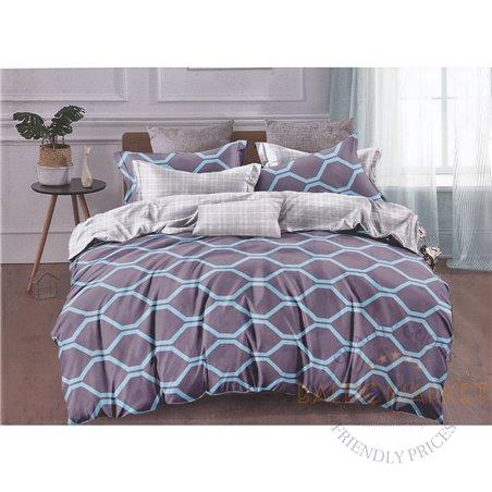Cotton satin bed linen complex 200x220, 4 parts (CT143)