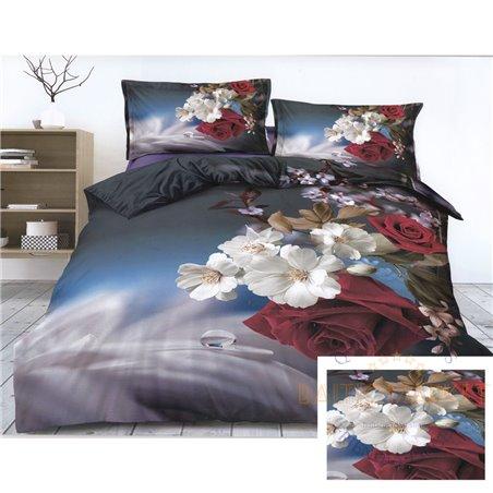 Puuvillasatiinist voodipesukompleks 160x200, 4 osa (CT147)