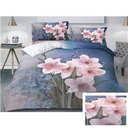 Cotton satin bed linen complex 160x200, 4 parts (CT149)