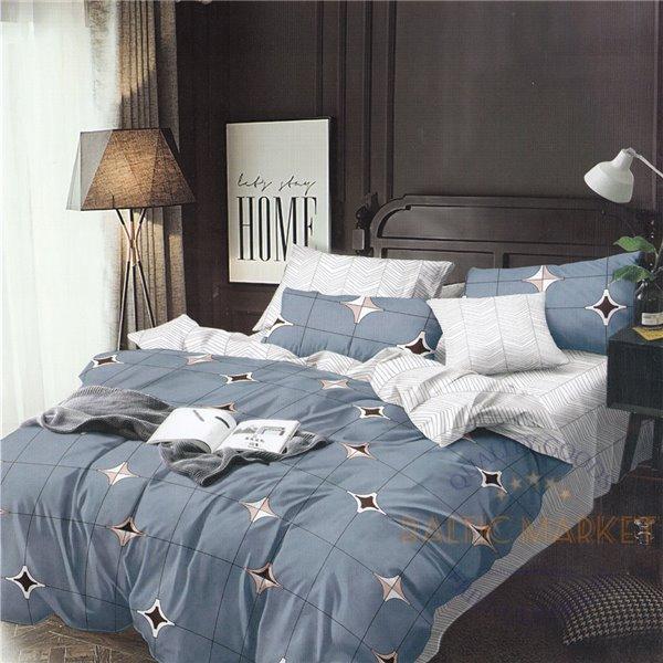 Cotton satin bed linen complex 200x220, 4 parts (CT153)