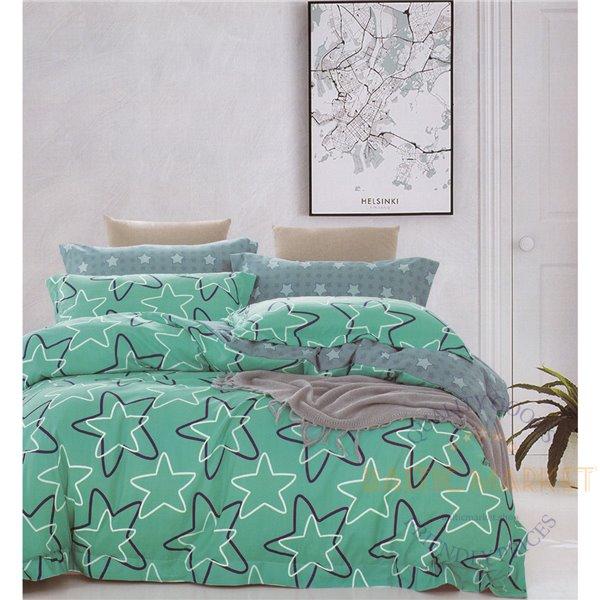 Cotton satin bed linen complex 200x220, 4 parts (CT154)