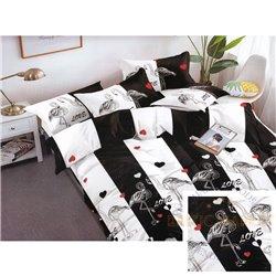 Комплект постельного белья хлопок сатин 200X220, 4 части (CT159)