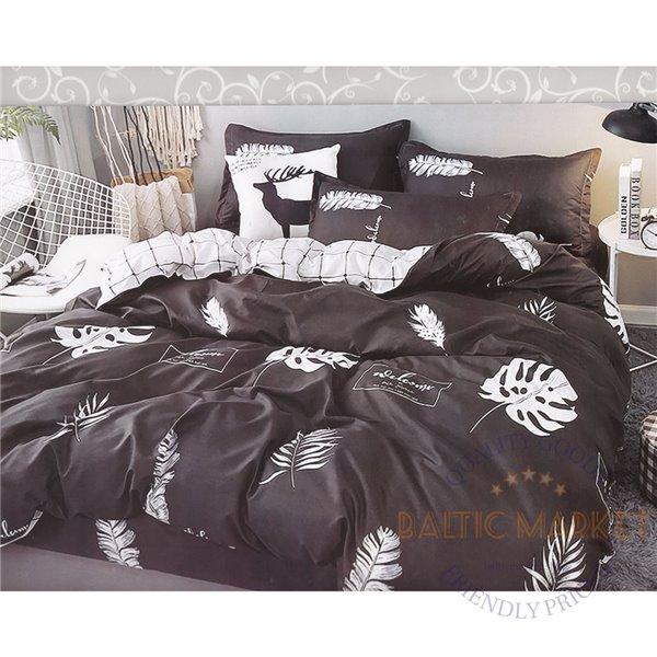 Cotton satin bed linen complex 200x220, 4 parts (CT164)