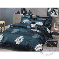 Cotton satin bed linen complex 200x220, 4 parts (CT167)