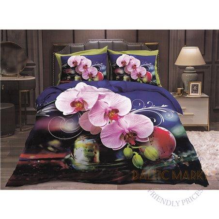 Cotton satin bed linen complex 160x200, 3 parts (CT168)