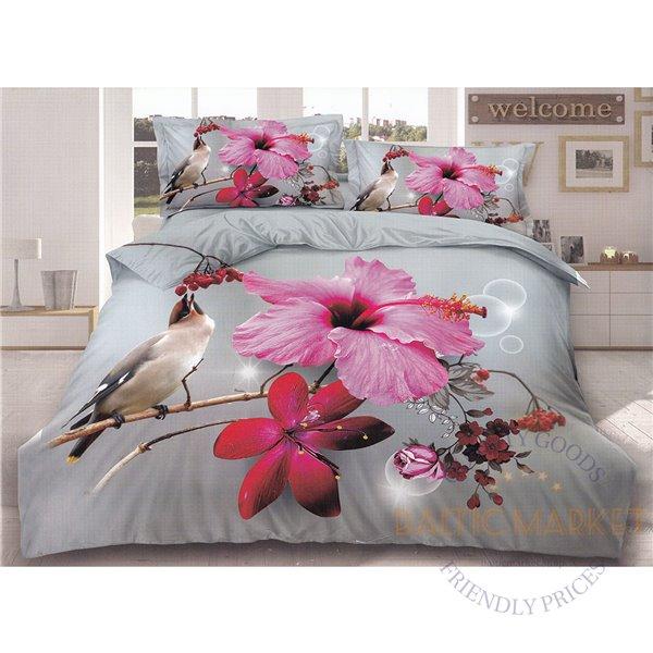 Cotton satin bed linen complex 160x200, 3 parts (CT169)