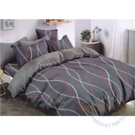 Cotton satin bed linen complex 200x220, 3 parts (CT174)