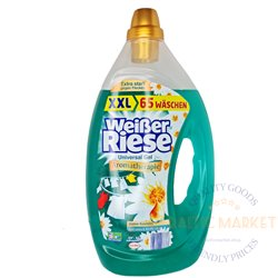 Weisser Riese Aromatherapie universal gelis spalvotiems skalbiniams 3,2 l, 65 skalbinių