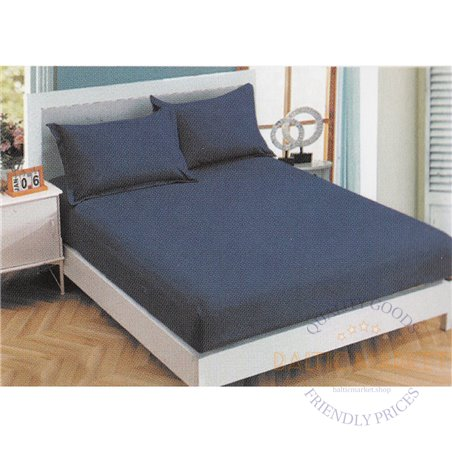 Cotton satin bed sheet with rubber 180x200cm (CT-80)