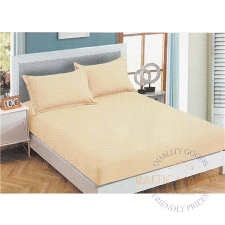 Cotton satin bed sheet with rubber 180x200cm (CT-46)