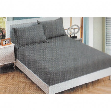 Cotton satin sheet with...