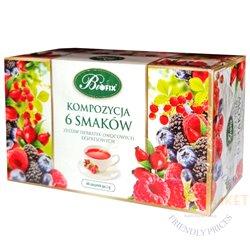 Bifix Herbatka z owoców, arbata pakeliais, 120g