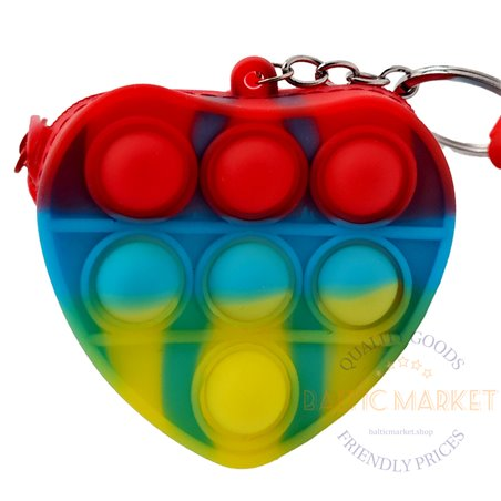 POP IT antistresinis žaislinis piniginė širdis