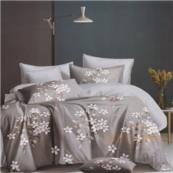 Cotton satin bed linen complex 200x220, 4 parts (CT183)
