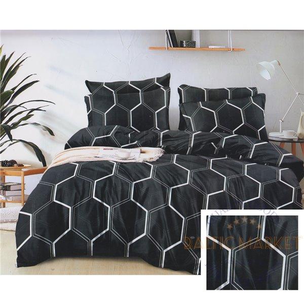 Cotton satin bed linen complex 200x220, 4 parts (CT186)