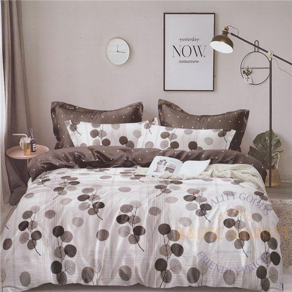 Cotton satin bed linen complex 200x220, 4 parts (CT187)