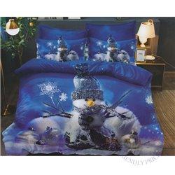Cotton satin bed linen complex 200x220, 4 parts (CT188)