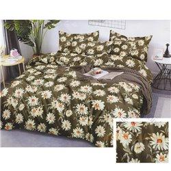 Cotton satin bed linen complex 200x220, 4 parts (CT189)