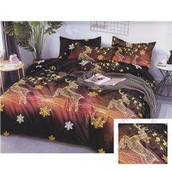 Cotton satin bed linen complex 200x220, 4 parts (CT190)