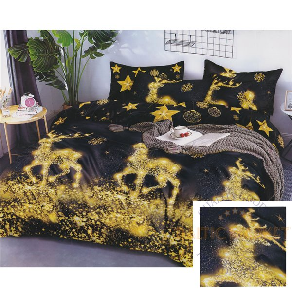 Cotton satin bed linen complex 160x200, 4 parts (CT193)