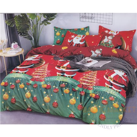 Puuvillasatiinist voodipesukompleks 160x200, 4 osa (CT192)