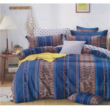 Puuvillasatiinist voodipesukompleks 160x200, 4 osa (CT194)