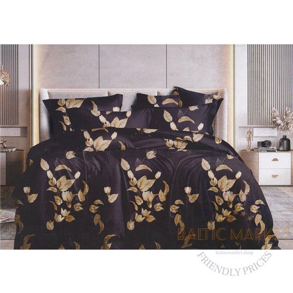 Cotton satin bed linen complex 160x200, 4 parts (CT197)