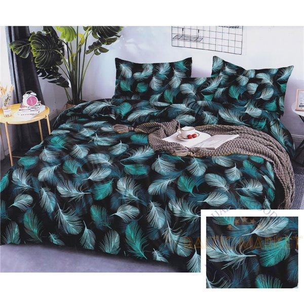 Cotton satin bed linen complex 200x220, 3 parts (CT178)