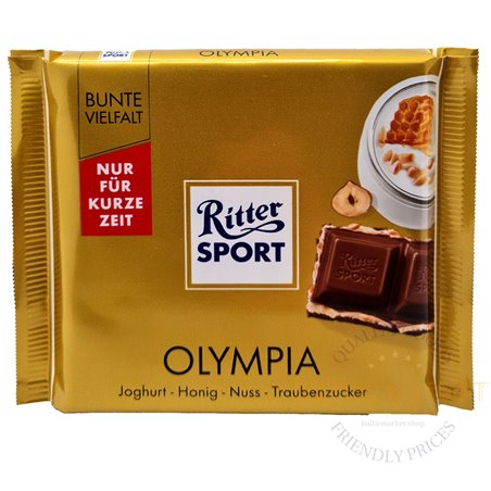 Ritter Sport pieninis šokoladas OLYMPIA 100 gr.