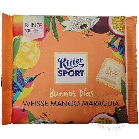 Ritter Sport  baltā šokolāde ar mango un marakujas garšu 100 gr.