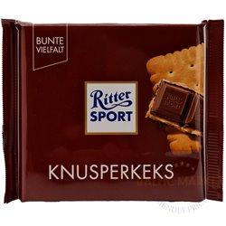 Ritter Sport pieniškas šokoladas su sausainiu 100 gr.