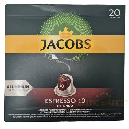 JACOBS ESPRESSO 10 INTENSO 20 kapslid