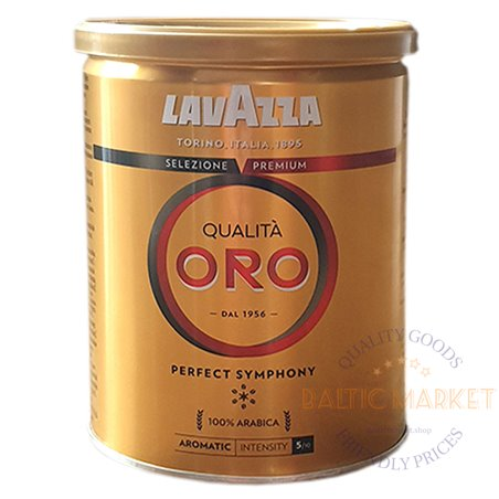 Lavazza Qualita ORO perfect symphony malta kava metalinė skardinė 250 gr